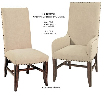 Osborne Collection Linen Arm Chairs