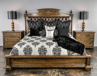 King Bed With Leather in Headboard