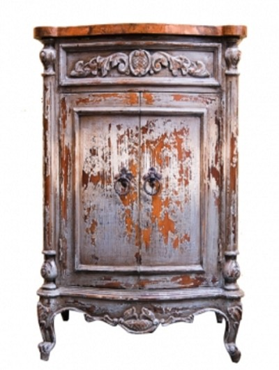 Hand Painted Old World Copper Top Vanity