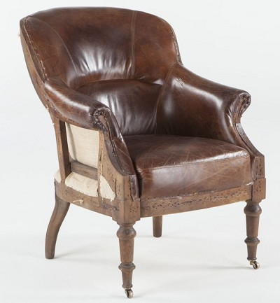 Vintage Leather Cigar Chair