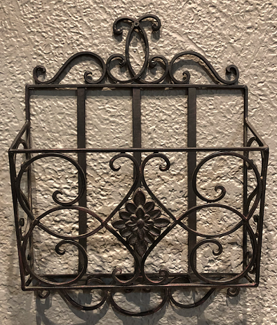 Clearance- Iron Magazine Wall Rack