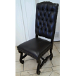 We can also do it tufted on the top. This side chair runs $1,349.00 in the leather you want.