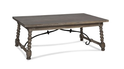 Solid Wood Coffee Table w/ Iron 48x28x19  - Slate Finish