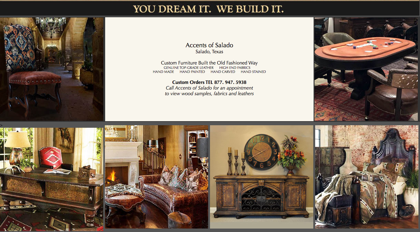 Custom Furniture - Salado, Texas